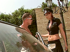 Whore Gets Fucked By Three Studs Outdoors