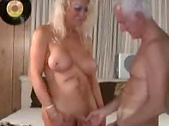 Mature shemale and mature man enjoying..