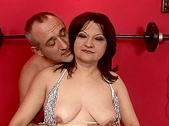 dude forces a mature woman to cum