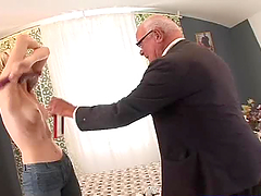 80 Year Old Man Fucks A Skinny Slut.