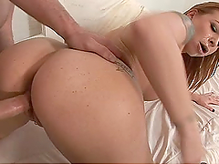 Multiple Facial Cumshots Leave a Bukkake on Redhead Scarlett Pain