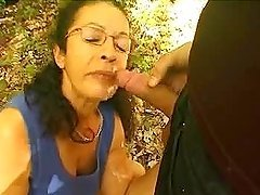 Mature French hottie blows and gets..