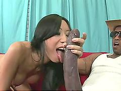 Humongous Black Dick Bangs Busty Asian..