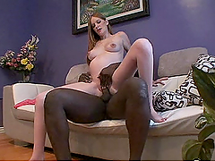 Black Cock Fucking Pregnant Layla Exx in POV Interracial Homemade Vid