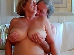 Naughty granny loves in on top and..