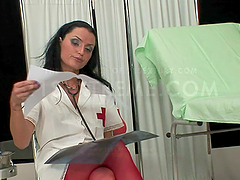 Naughty Nurse Enjoys A Shemale..