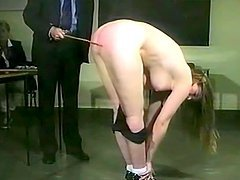 Nasty fair-haired milf gets whipped in..