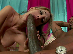 A Massive Splash Of Cum For The Slutty Blonde Sarah Jessie