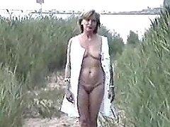 Hot mature German exposes her..