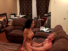 Hardcore Cowgirl Banging in the Living..