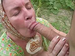 Lewd granny gets her ass pounded in..