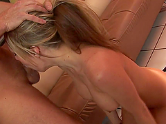 Rough Face Fucking for Hot Blonde Deepthroating Babe