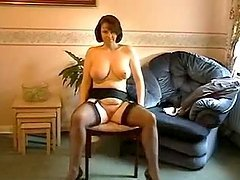 Milf in Nylon and Stockings gives a..