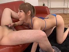Skinny Mao Satsuki Gives A Blowjob On..