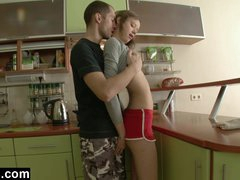 First Time Anal In The Kitchen