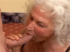 Nasty granny Marinoka rides a cock and..