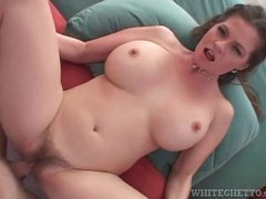 Milf with thick hips and big tits fucked in POV