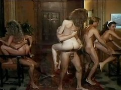 Retro video of an amazing orgy with..