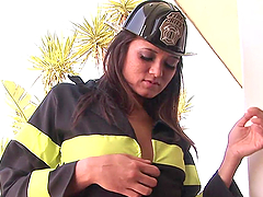 Hot Firefighter Lady Getting Her..