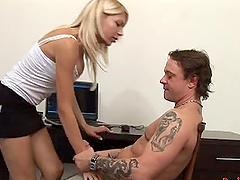 Desirable shemale Estella jerks off..