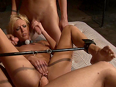 Threesome Fucking and Bukkake for Blonde Babe Victoria White