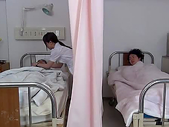 Hikaru Ayami the horny nurse sucks and..