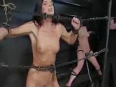 Extreme bdsm torture for two naughty..