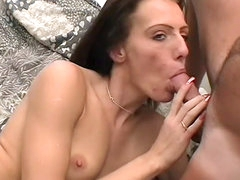 Nadia is tasting that small dick with..