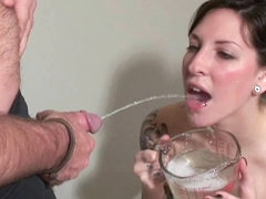 Hardcore brunette gets a hot flow in..