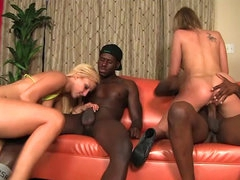 Hardcore interracial foursome with..