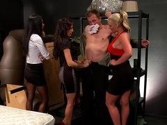 Three sluts and horny hard dick loaded..