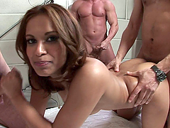 Triple Fun for Sexy Babe Gaya Patel in Hot Gangbang