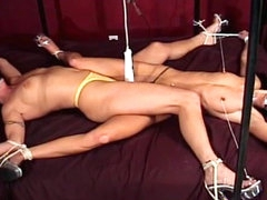 Hardcore BDSM with slender brunette