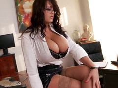 Curly secretary Leanne Crow is taking..
