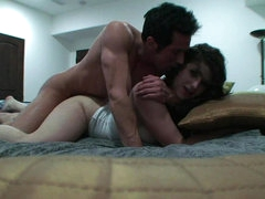 Horny couple arrange brathtaking cock riding
