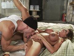 Ariella Ferrera tastes horny dick of..