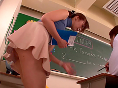 Kaori the horny teacher gets fucked hard by her student