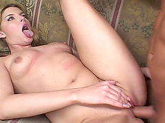 Lovely Pigtailed Blonde Beauty Gets Her Pussy and Ass Fucked Hard