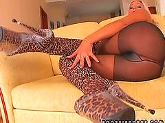 Horny Adriana Russo sucks big dick and..