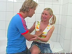Helena Sweet the teen with pigtails..
