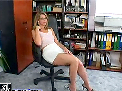 Katalin the sexy secretary plays with..