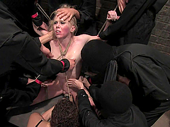 Wild BDSM Action in Crazy Gangbang for Blonde Chick
