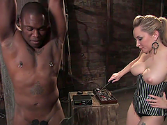 Blonde Dominant Beauty Spanks and..