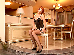 Wicked plays by a sizzling redhead babe Valerie