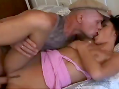Brunette Moans with Cowgirl and Doggystyle Hardcore Sex