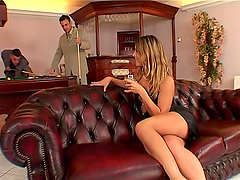 Sexy Sarah James gets fucked hard by..