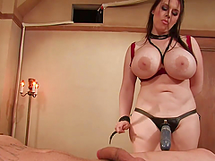 Dominant Big Boobed Brunette Fucking a..