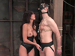 Hot Dominant Babe Tying and Fucking a..