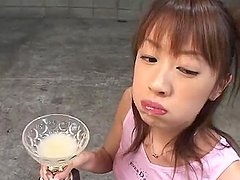 Kinky Asian chick plays dirty games..