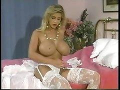80s pornstar with huge tits rubs..
